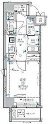 都営大江戸線 両国駅 徒歩8分の賃貸マンション 7階1Kの間取り