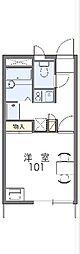 JR高崎線 高崎駅 バス17分 山王入口下車 徒歩5分の賃貸アパート 2階1Kの間取り