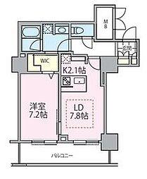 東京メトロ日比谷線 南千住駅 徒歩5分の賃貸マンション 23階1LDKの間取り
