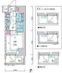 東京メトロ千代田線 綾瀬駅 徒歩12分の賃貸マンション 3階1Kの間取り