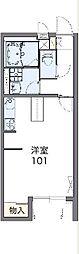 東武桐生線 治良門橋駅 徒歩12分の賃貸アパート 1階1Kの間取り