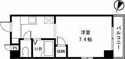 小田急多摩線 小田急永山駅 バス12分 中村下車 徒歩1分の賃貸マンション 4階1Kの間取り