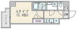 東京メトロ銀座線 稲荷町駅 徒歩5分の賃貸マンション 2階1Kの間取り