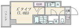 東京メトロ銀座線 稲荷町駅 徒歩5分の賃貸マンション 4階1Kの間取り