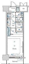 都営新宿線 西大島駅 徒歩12分の賃貸マンション 6階1Kの間取り