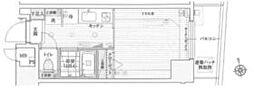 京王線 初台駅 徒歩6分の賃貸マンション 7階1Kの間取り