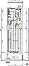 JR総武線 大久保駅 徒歩3分の賃貸マンション 4階ワンルームの間取り