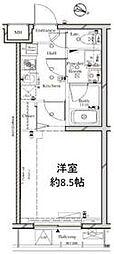 都営三田線 蓮根駅 徒歩10分の賃貸マンション 5階1Kの間取り