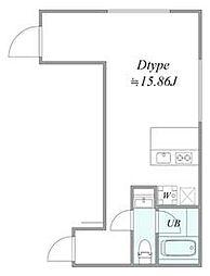 西武池袋線 椎名町駅 徒歩6分の賃貸マンション 3階1LDKの間取り