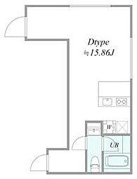 西武池袋線 椎名町駅 徒歩6分の賃貸マンション 2階1LDKの間取り