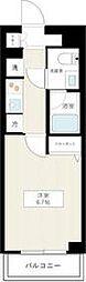 JR常磐線 亀有駅 徒歩8分の賃貸マンション 4階1Kの間取り