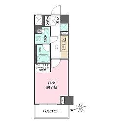東京メトロ有楽町線 江戸川橋駅 徒歩6分の賃貸マンション 1階1Kの間取り