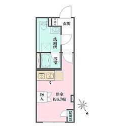 JR京浜東北・根岸線 大井町駅 徒歩6分の賃貸マンション 3階ワンルームの間取り