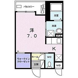 JR東海道本線 平塚駅 徒歩14分の賃貸アパート 3階1Kの間取り
