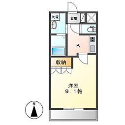 JR関西本線 加佐登駅 徒歩7分の賃貸アパート 1階1Kの間取り