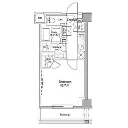 京王井の頭線 神泉駅 徒歩7分の賃貸マンション 4階1Kの間取り