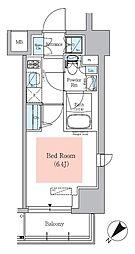 京急本線 青物横丁駅 徒歩2分の賃貸マンション 6階1Kの間取り