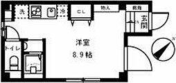 都営三田線 西巣鴨駅 徒歩5分の賃貸マンション 2階ワンルームの間取り