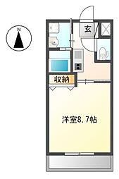 JR東海道本線 大垣駅 バス8分 市民病院前下車 徒歩5分の賃貸アパート 2階1Kの間取り