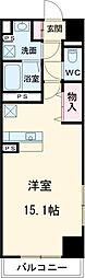 JR東北新幹線 宇都宮駅 徒歩15分の賃貸マンション 1階ワンルームの間取り