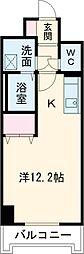 JR東北本線 宇都宮駅 徒歩9分の賃貸マンション 1階ワンルームの間取り