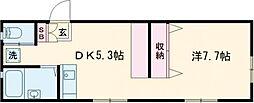 京王相模原線 京王多摩センター駅 バス9分 恵泉女学園大学入口下車 徒歩3分の賃貸アパート 2階1DKの間取り