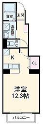 京王相模原線 多摩境駅 徒歩7分の賃貸アパート 1階1Kの間取り