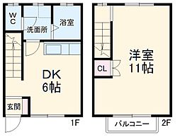 JR東海道本線 岐阜駅 バス34分 県自動車会館下車 徒歩11分の賃貸アパート