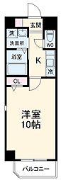 愛知高速東部丘陵線 杁ヶ池公園駅 徒歩24分の賃貸マンション 2階1Kの間取り