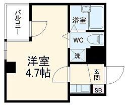 JR総武本線 稲毛駅 徒歩2分の賃貸マンション 4階1Kの間取り