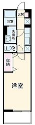 名古屋市営東山線 八田駅 徒歩7分の賃貸マンション 2階1Kの間取り