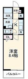京成本線 京成大久保駅 徒歩13分の賃貸アパート 3階1Kの間取り