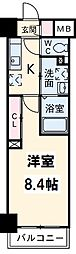 東京メトロ東西線 西葛西駅 徒歩5分の賃貸マンション 3階1Kの間取り