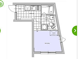 京王井の頭線 井の頭公園駅 徒歩12分の賃貸マンション 4階1Kの間取り