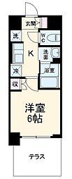 ハーモニーレジデンス武蔵小杉 1階1Kの間取り