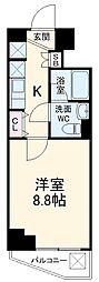 パティーナウィリア武蔵小杉 5階1Kの間取り