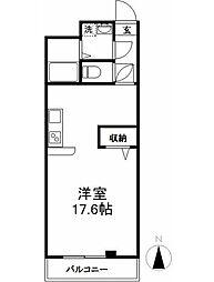 西武新宿線 田無駅 徒歩12分の賃貸マンション 3階ワンルームの間取り