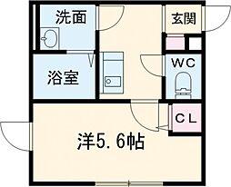 都営新宿線 一之江駅 徒歩4分の賃貸マンション 3階1Kの間取り