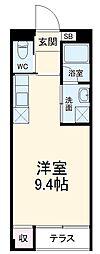 静岡鉄道静岡清水線 日吉町駅 徒歩22分の賃貸マンション 1階ワンルームの間取り