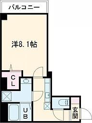 東京メトロ半蔵門線 押上駅 徒歩10分の賃貸マンション 6階1Kの間取り