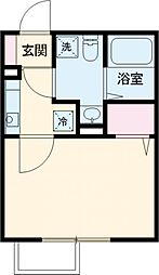 東武亀戸線 東あずま駅 徒歩11分の賃貸マンション 3階1Kの間取り