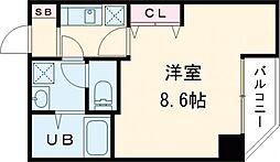 東京メトロ日比谷線 入谷駅 徒歩10分の賃貸マンション 6階1Kの間取り