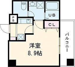 東京メトロ日比谷線 入谷駅 徒歩10分の賃貸マンション 8階1Kの間取り
