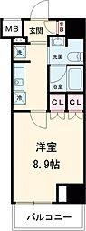 東京メトロ千代田線 根津駅 徒歩6分の賃貸マンション 1階1Kの間取り