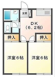 間取り,2DK,面積39.75m2,賃料4.0万円,JR外房線 茂原駅 徒歩20分,,千葉県茂原市早野