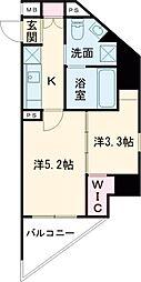 西武新宿線 鷺ノ宮駅 徒歩8分の賃貸マンション 2階2Kの間取り