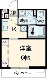 JR総武線 新小岩駅 徒歩7分の賃貸マンション 3階1Kの間取り