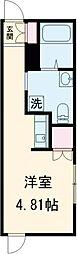 JR総武本線 新小岩駅 徒歩11分の賃貸アパート 2階ワンルームの間取り