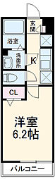 JR中央線 国立駅 徒歩17分の賃貸アパート 1階1Kの間取り