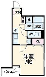 西武池袋線 秋津駅 徒歩5分の賃貸アパート 2階1Kの間取り